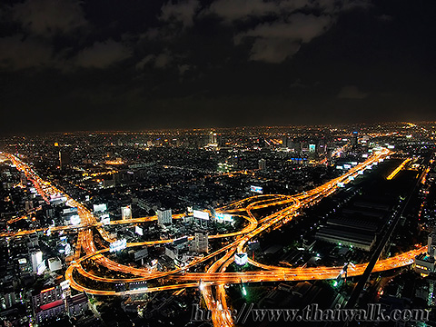 Baiyoke Tower II Night View 01 - Pratunam