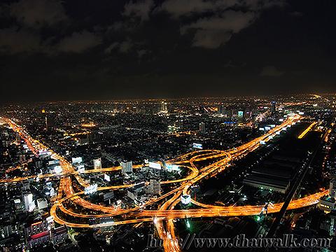 Baiyoke Tower II Night View 01 - Pratunam