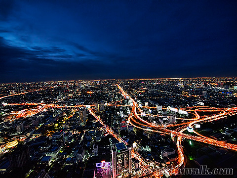 Baiyoke Tower II Night View 02 - Pratunam