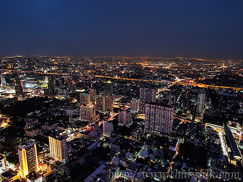 Baiyoke Tower II Night View 03 - Pratunam
