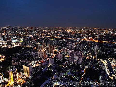 Baiyoke Tower II Night View 03 - Pratunam