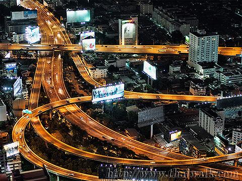 Baiyoke Tower II Night View 05 - Pratunam