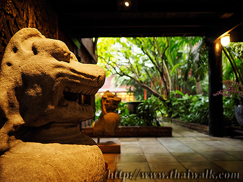 The Jim Thompson House - the statue of a lion