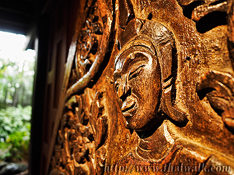 The Jim Thompson House - the wood carving