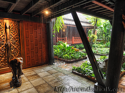 The Jim Thompson House - It started to rain