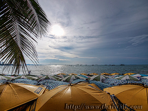 Pattaya Beach - beach Beach Umbrellas