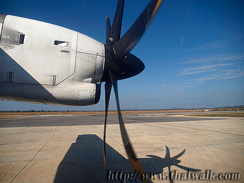 a propeller of the airplane that goes to Sukhothai
