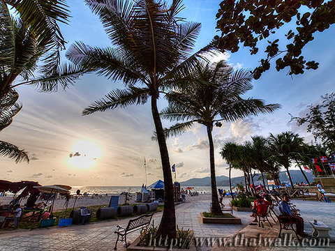 Daytime at Patong Beach - the time around sunset Part.1