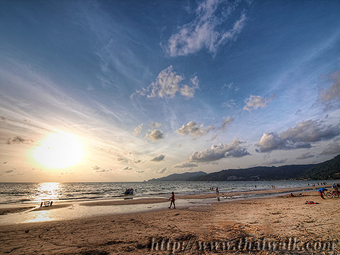 Daytime at Patong Beach - the time around sunset Part.2