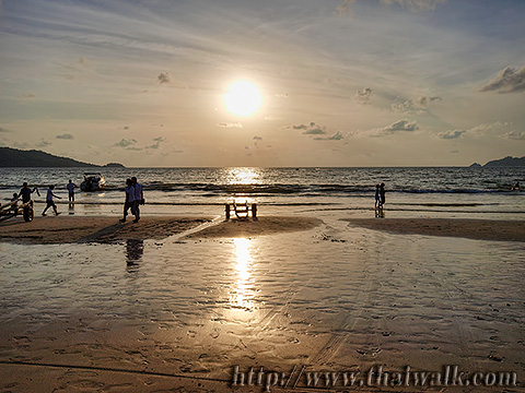 Daytime at Patong Beach - the time around sunset Part.3