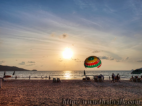 Daytime at Patong Beach - the time around sunset Part.4