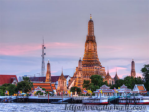 Wat Arun - The view across the river No.06