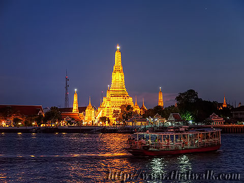 Wat Arun - The view across the river No.08