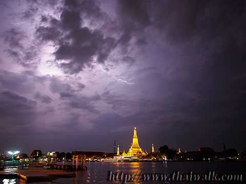 Wat Arun - The view across the river No.12