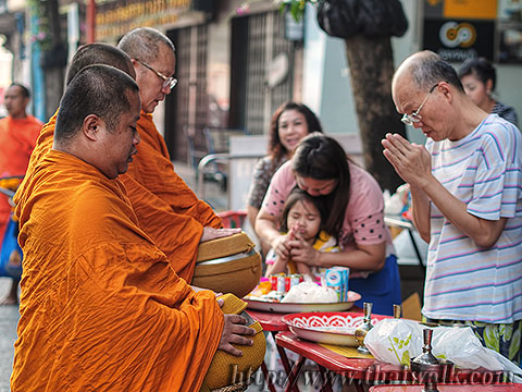 Thai people and monks No.10