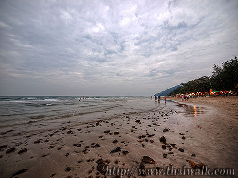 White Sand Beach under a cloudy sky No.14