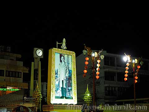 King Bhumibol Adulyadej - the picture at Hua Hin