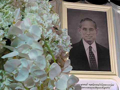 King Bhumibol Adulyadej - the picture at the airport